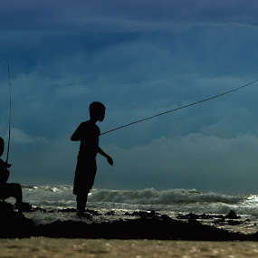 Fishing Together by Deddy Setiawan - Babies & Children Children Candids