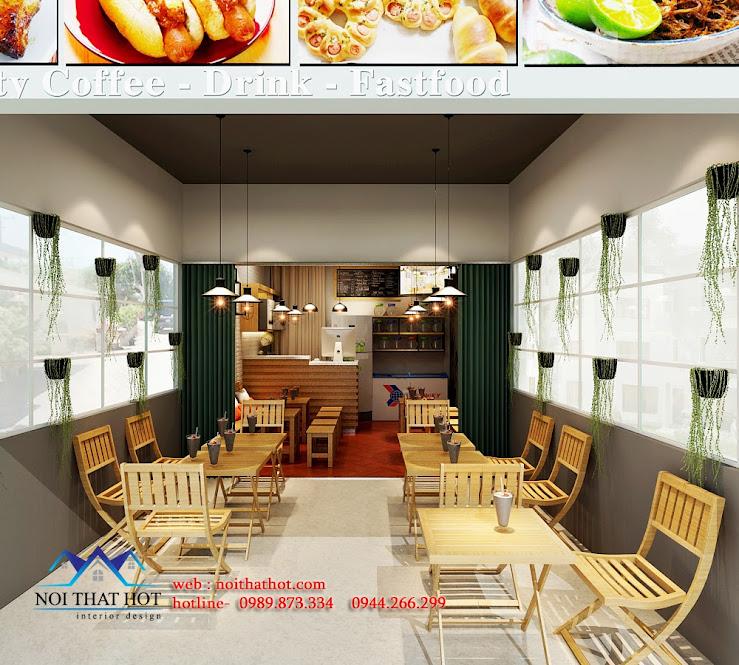 thiết kế quán ăn nhanh thiết kế quán trà sữa
