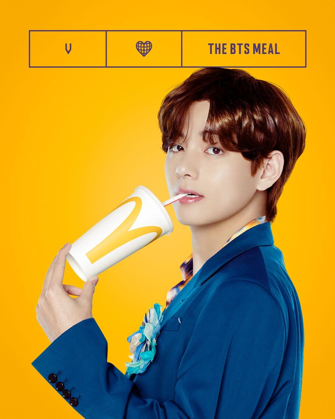 bts v taehyung @McDonalds