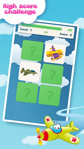 子供のための航空機の記憶ゲーム