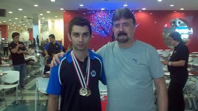Photo: Renan Zoghaib (BRONZE no All Events 1.ª divisão masculina,média 217,55) com Décio Abreu