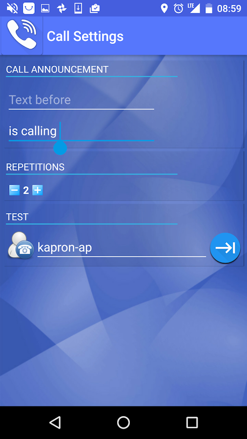 Speak Who is Calling Ringtone- screenshot
