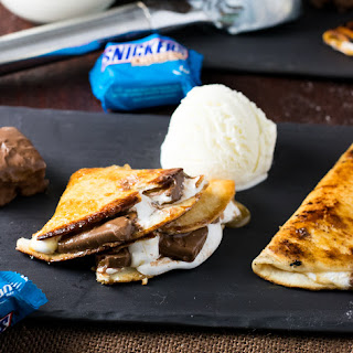 Dessert Quesadilla with SNICKERS® Crisper.