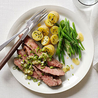 Miso Steak with Green Beans and Baby Potatoes