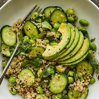 Quinoa-Edamame Green Salad Recipe