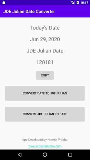 JDE Julian Date Converter 1.0 screenshots 1