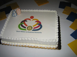 Photo: Presidential Cake - The Rotary Club of DeBary-Deltona is 40 Years Old!!!