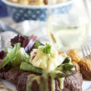 Pan Roasted Filet Mignon Oscar Style.
