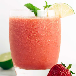 Strawberry Watermelon Lime Smoothie.