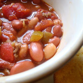 Hearty Chili With Beans.