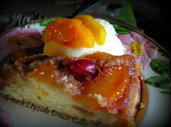 Peach Upside Down Cake - Dee Dee's Recipe