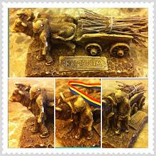 Photo: Bullock cart - Romanian handicraft illustrating the hard work of peasants in the past #romania #intercer #work #craft #peasant #animal #agriculture #land - via Instagram, http://instagr.am/p/MOkCgfpfss/