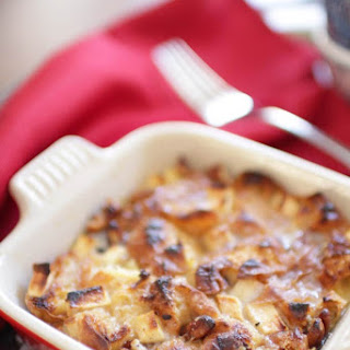 Croissant Breakfast Bread Pudding For One.