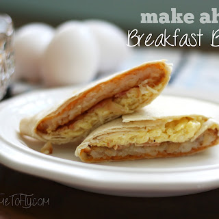 Make Ahead Breakfast Burritos.