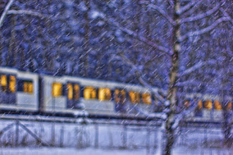 Photo: Abstract Metro in the snow. Woohoo, it's snowing a lot today too!! ;D  #BokehTuesday curated by +Bob Baxley