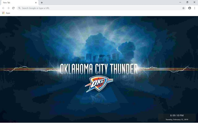 Oklahoma City Thunder New Tab Theme