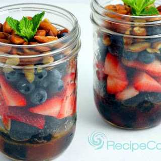 Triple Berry and Nut Salad in a Jar
