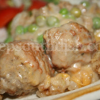Meatball and Stuffing Bake Recipe