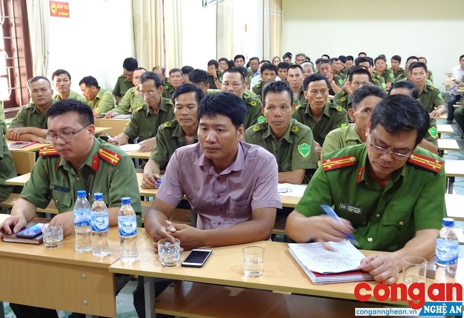 120 học viên là Công an xã tham gia lớp tập huấn nghiệp vụ