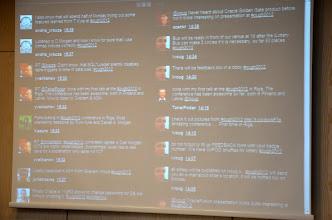 Photo: online tweetmonitoring #ough2012