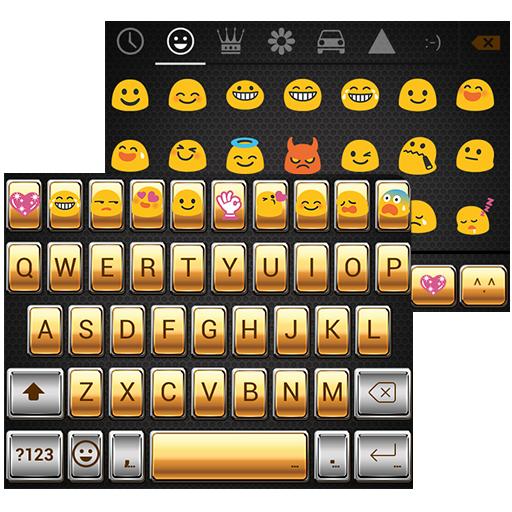 Gold Classic Emoji Keyboard