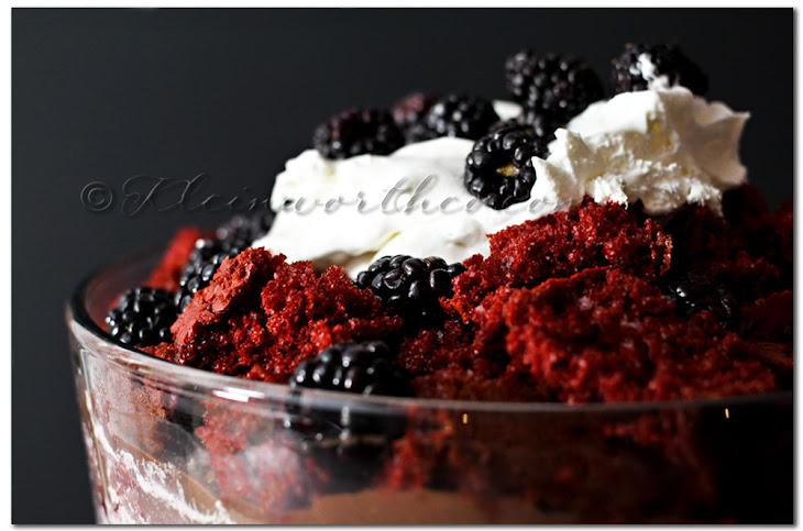 Red Velvet BlackBerry Crash Cake