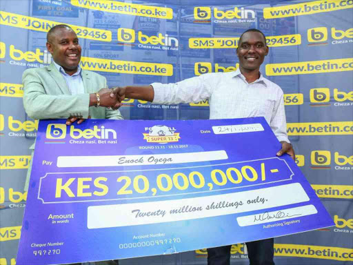 Enock Ogega, 30, latest to bag Betin's Sh20 million jackpot