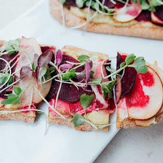 Roasted Beet and Pear Naan Bread