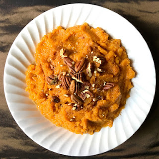 Bourbon Pecan Mashed Sweet Potatoes