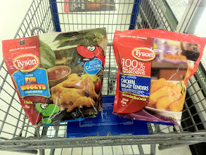 Photo: I narrowed my choices down to the chicken nuggets sticks or either the dinosaur chicken nuggets.