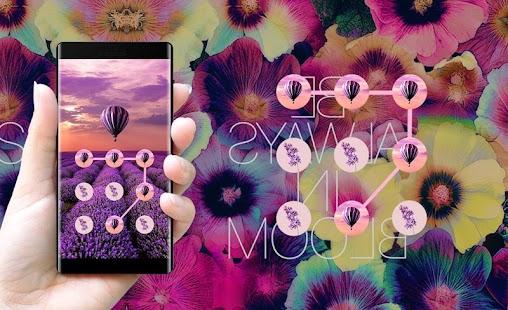 Lavender APP Lock Theme Flower Pin Lock Screen - náhled