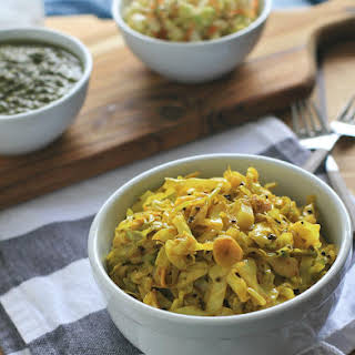 Spicy Yellow Indian Cabbage.