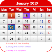 Canada Calendar 2019