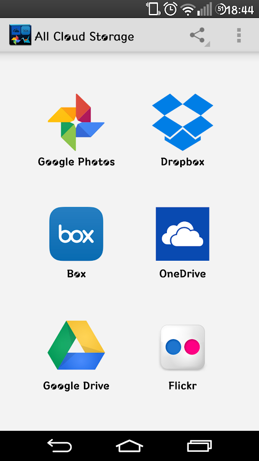 Screenshots of All Online Cloud Storage for iPhone