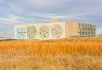 A colorful mural by digital artist Jenny Odell brightens up our Mayes County, Oklahoma data center.