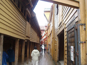 Photo: Narrow alleys between the buildings, with shops and restaurants - over 350 years old.