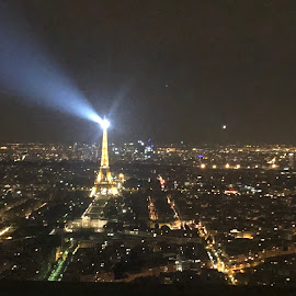 Eiffel Tower at midnight by Emily Gale - Buildings & Architecture Statues & Monuments