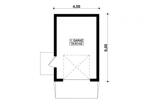 G81 - Rzut garażu