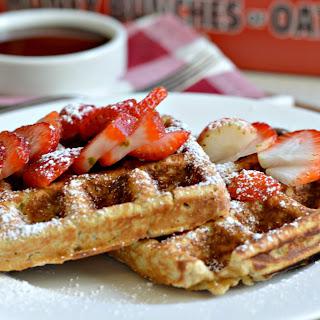 "Homemade ""Honey Bunches of Oats"" Waffles."