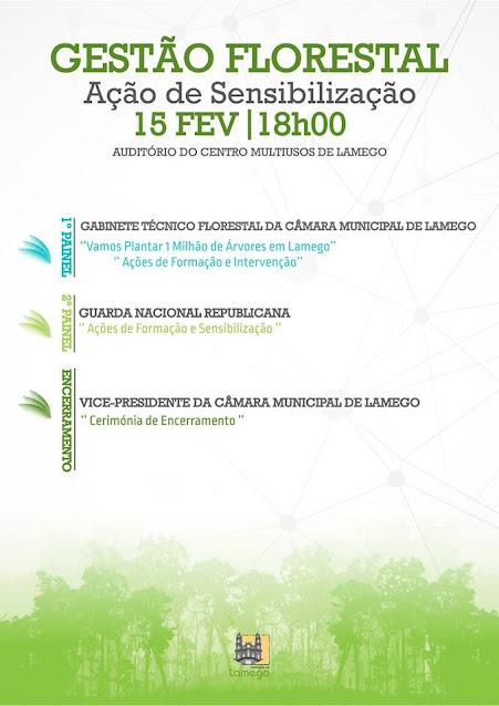 Ação dedicada à gestão florestal amanhã no Multiusos de Lamego