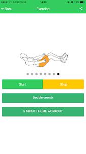 Abs 5 minutes workout screenshot 29