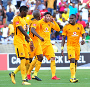 Leonardo Castro of Kaizer Chiefs celebrates after scoring a goal to make it 2-1 during the Absa Premiership match between Baroka FC and Kaizer Chiefs at Peter Mokaba Stadium on January 21, 2018 in Polokwane.