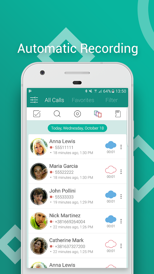 Automatic Call Recorder Pro 2017 - callU- screenshot