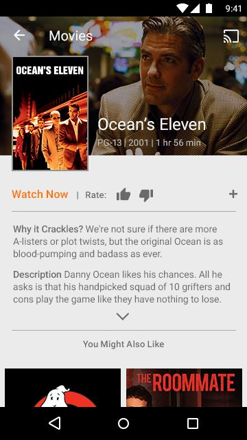 Sony Crackle – Free TV & Movies screenshots