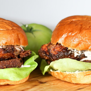 Chicken and Fried Green Tomato Burger.