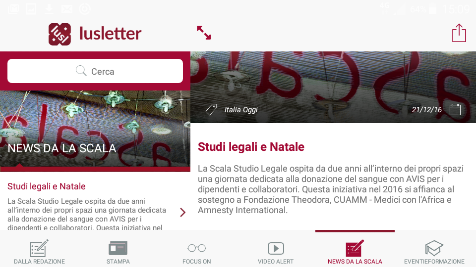 Iusletter- screenshot