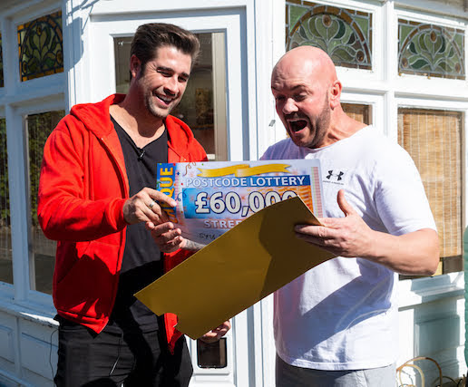 Neighbours scoop £120,000 in Postcode Lottery