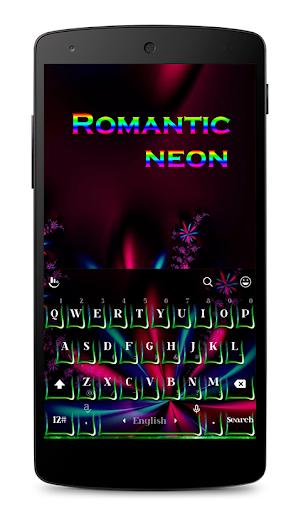 Romantic Neon Keyboard Theme