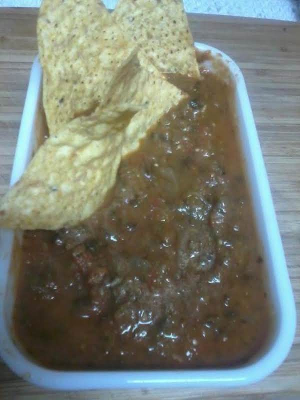 A Mild Jalapeno Salsa For Us Couch Potatoes Who Like To Eat Chips And Drink Beer While We Watch Tv.