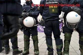 Photo: Polizeiabschirmung